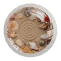 引き出しハンドルキャビネットノブノブラウンドパック4個入り キャビネット、引き出し、チェスト、ドレッサーなどに, 貝殻と星のフレーム