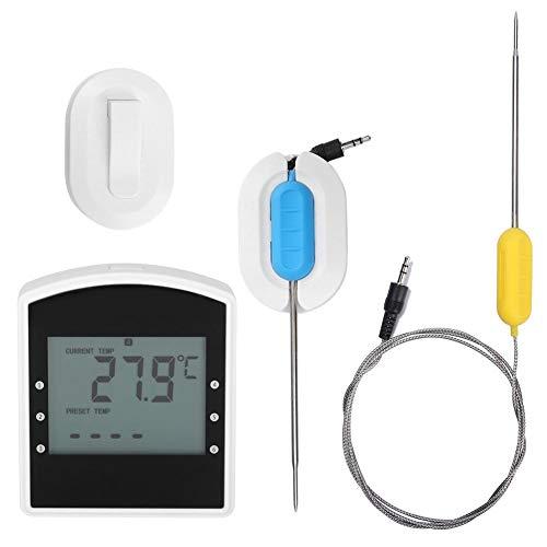 ABS-Temperaturmesser BBQ-Thermometer Fernbedienung 2% Fehler (wenn> 100 ℃) Digitale Thermometermessung zur Anzeige der Grilltemperatur