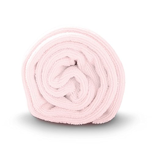 Luxe Beauty Essentials Microfiber Hair Towel for Drying Curly, Long & Thick Hair (20 x 40, Pink)