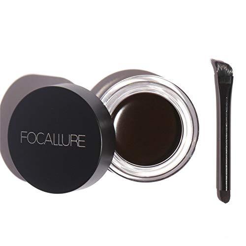homese Augenbrauen-Gel Kosmetik Makeup Augenbrauen-Färben-Salben-Gel Wasserdichter Augenbrauen-Schatten wasserfester Augenbrauenstift für langanhaltende Definition und Fülle mit integriertem Pel