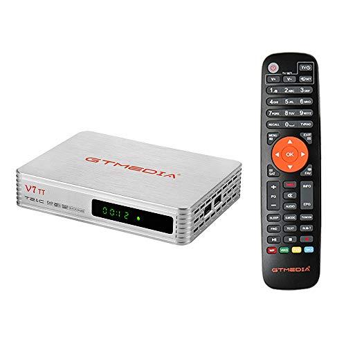 GTMEDIA V7 TT Decoder satellitare Ricevitore TV 1080P Full HD DVB-T/T2/Cable/J.83B Supporto Multi PLP USB PVR Ready+GTMedia Antenna WiFi USB WiFi Dongle USB
