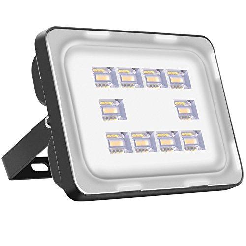 Viugreum Focos LED Exterior 30w / Proyector Reflector de Pared/Iluminación Exterior IP65 Resistente al agua Blanco Cálido