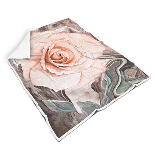 Rcerirt Flower Painting leicht Bunt Decke für Zimmer Herbst Winter Frühling für Alle Menschen Sonnenscheinstil White 150x200cm