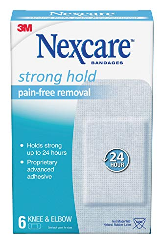 Nexcare Sensitive Skin Bandages for Knee and Elbow, Pain-Free Removal, 6 Count