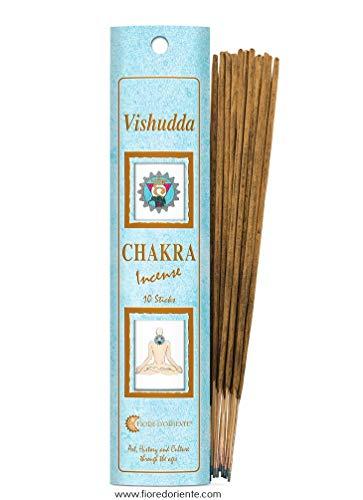 Fiore D'Oriente Vishudda Chakra Incensi, Celeste, 20 bastoncini