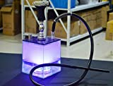 Mkxiaowei Narguile Pipa de Agua Set con Pipa de la cachimba de LED