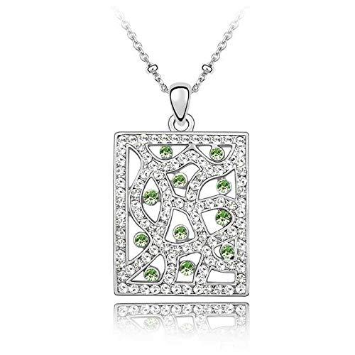 Luziang Damen Halskette,Europäische und amerikanische Retro-Luxus geometrische Halskette Crystal Halskette-Süd Fenster Man Yi. Geburtstagsgeschenk