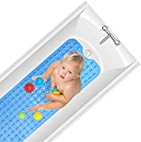 Best Bath Mats For Kids - Yueetc Bathroom Mat for Tub, 35 x 16 Review