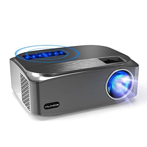"Beamer 7500 Lumens, VILINICE Native 1080P Beamer Full HD, Unterstützt 4k LED Outdoor Beamer Heimkino 300"" Beamer Kompatibel mit HDMI USB TV Stick Xbox Laptop, Smartphone Projektor für Heimkino"