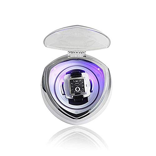 N\C Enrollador de Reloj automático único, con Control de Temporizador Inteligente y luz LED Azul Relojes mecánicos Caja de bobinado Motor silencioso ZZST