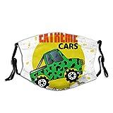 Protector bucal Big-Car-Boys-Doodle-Style Pasamontañas para decoración de la cara con 2 filtros