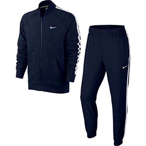 Nike Herren Trainingsanzug Club French Terry, obsidian / blanco (obsidian/white/white), XL, 679725 451