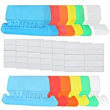 180set Hanging File Folder Tabs, Plastic File Folder Labels Tabs Colored Clear File Folder Labels Insertable File Cabinet Folders Tabs File Tabs Filing Folder Tabs with File Tab Inserts,6 Colors 2inch