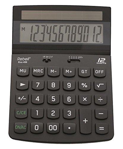 Rebell RE-ECO450 - Tischrechner, schwarz