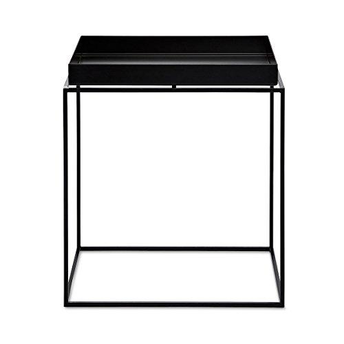 HAY Couchtisch Tray Table - medium square - schwarz, 40 x 40 x 40 Metall Pulverbeschichtet, Couchtisch - Beistelltisch