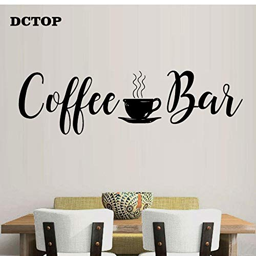 MRQXDP Coffee Bar Cup Muursticker Keuken Eetkamer Decals Home Decor Vinyls Muurdecoratie voor Koffie Winkel Tegel Mural Wallpaper