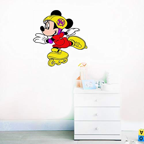 Sticker mural Minnie Mouse Minnie patinage disney chambre décor fille chambre Decor souris autocollant