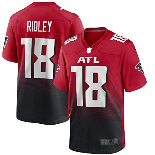Rot – Calvin Trainings-Trikot Ridley American Football Trikot Atlanta Rugby Trikot Falcons Kleidung #18 2nd Alternate Game Jersey – XXL