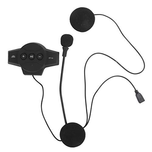 ASHATA IP54 Motorcycle Bluetooth Headset, Waterproof Motorcycle Headset, Hands Free Speakers wiht Call Response Function, Universal Microphone Kit