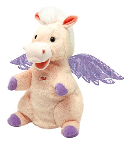 Trudi Sevi- Peluche Marionnette Pegasus, 29949, Rose, 25 cm