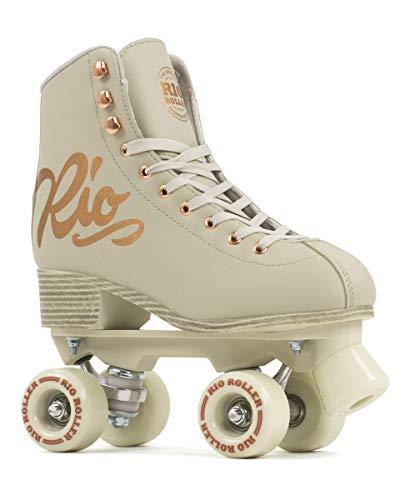 Rio Roller Quad Skates Rollschuhe für Kinder, Jugendliche, Unisex, Rosa (Rose Cream), 35,5