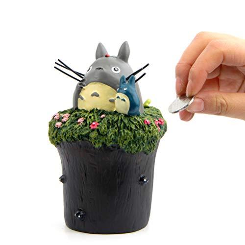 EASTVAPS Hayao Miyazaki Mon Voisin Totoro Chat Briquettes de Chat Chinchilla Tirelire en résine