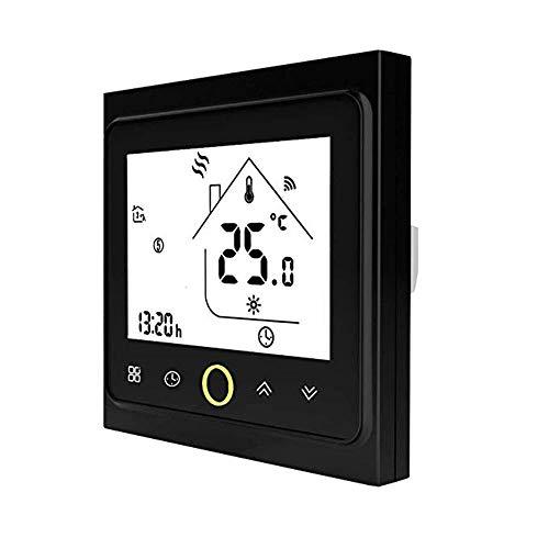 Termostato WiFi per Caldaia a Gas,Termostato Intelligente Programmabile,Touch Button Controllo Remoto Compatibile con Alexa/Google Home-AC220V 3A