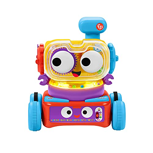 Fisher-Price 4-in-1 Ultimate Learning Bot, electronic activity toy with lights, music and educational content for infants and kids 6 months and up