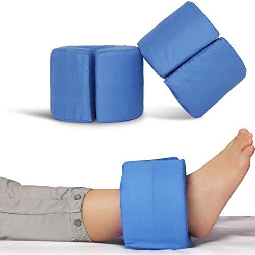 GuoYQ Stützkissen Fuß,Fersenschutz Anti Dekubitus,2PCS Fersenschoner, Fußstütze Kissen Fußkissen oder Handstütze Kissen,Antidekubitus - Ekubitus,Blau