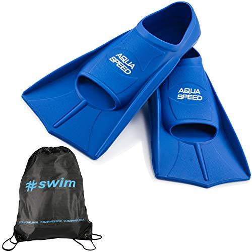 Aqua Speed Fusion Aletas largas de natación para Adultos y niños + ULTRAPOWER #Swim | azul/11 | Tamaño: 41/42