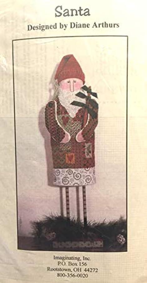 Santa by Diane Arthurs Standing Cross Stitch Kit Button Wood Imaginating 1607 y124501367