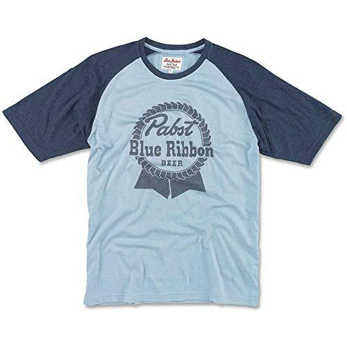 Pabst Blue Ribbon (Pbr) Pabst Blue Ribbon Bier Männer Blue Raglan T-Shirt
