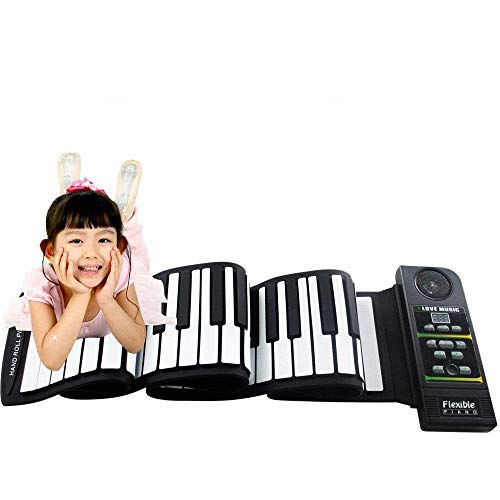Great Price! FJFJFJ Multi Style Portable 88 Keys Flexible Silicone Roll Up Piano Folding Electronic ...