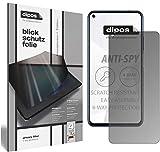 dipos I Blickschutzfolie matt kompatibel mit Huawei Nova 5T Sichtschutz-Folie Bildschirm-Schutzfolie Privacy-Filter (bewusst Kleiner als das Glas, da Dieses gewölbt ist)