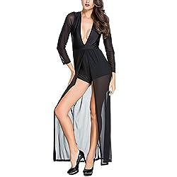Plunging Black Dress