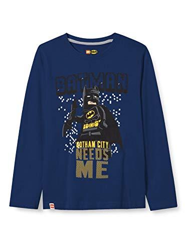 LEGO Jungen MW-Langarmshirt Batman T-Shirt, 577 Dark Blue, 110