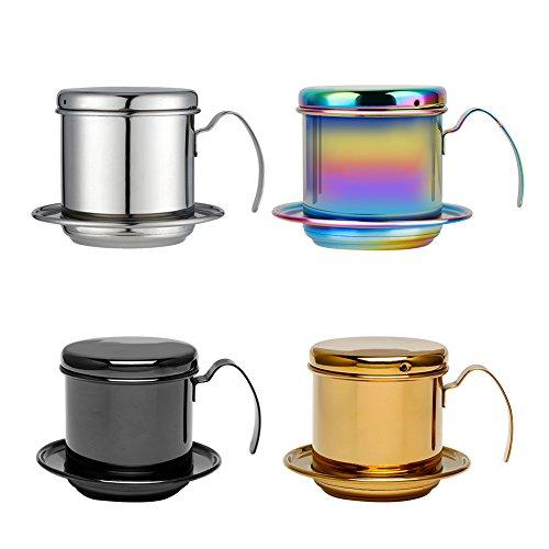 304 Stainless Steel Vietnam Coffee Drip Filter Kettle Cup Filter Drip Cup Kaffee-Perkolatoren Espressokocher Kaffeebereiter Perkolatoren Kaffeemaschinenzubehör (3)