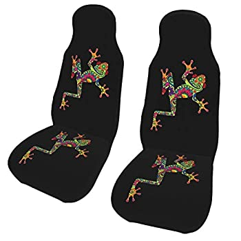 KiuLoam Boho Frog Tree Car Seat Covers Front Vehicle Seat Protector Car Mat Covers Universal Fit for Vehicle Sedan SUV and Truck Automotive Interior 2 Pcs