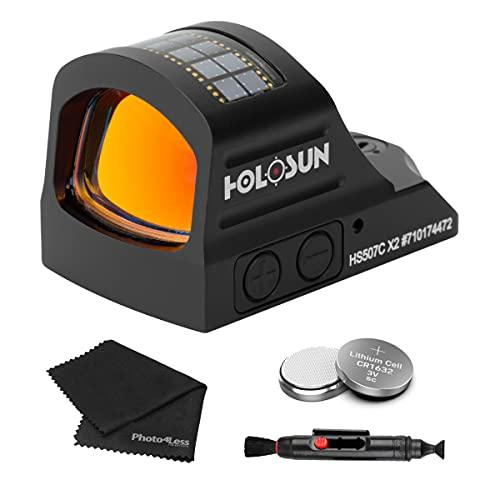 Holosun HS507C-X2 Multi Reticle Classic Red Dot Sight + 2...