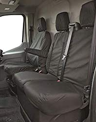 CAR ACCESSORY: Everyday messes, spilled beverages and stains can spoil your car seats but with Streetwize seat covers, you can protect the upholstery and make it look brand new. These custom-fit seat protectors for Ford Transit Van can be used for bo...