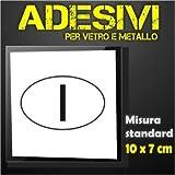 I Italia (sw) - Pegatina adhesiva ovalada para coche y moto y camión