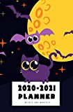 2020-2021 Weekly And Monthly Planner: Calendar Schedule, Squares Quad Ruled Notes, Dot Notes, No Holiday, Black Cat Halloween Pumpkin (January 2020 through December 2021) Pocket Size 5.25