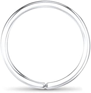 14k White Gold Nose Hoops Seamless Nose Rings 1/4