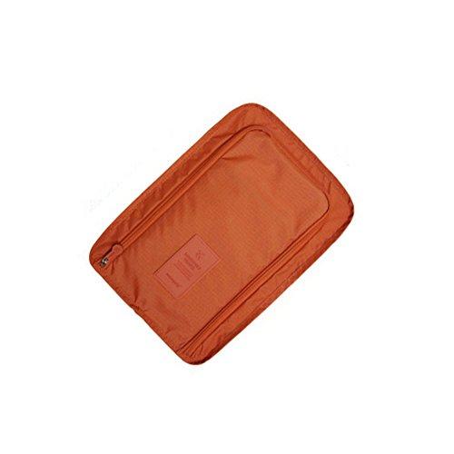 Verlike extérieur Voyage Chaussures Sac de rangement portable étanche Chaussures Emballage Cubes à nourriture, Nylon, Orange, Taille unique