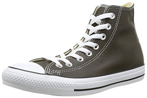 Converse, Chuck Taylor All Star Adulte Seasonal Leather HI, Sneaker, Unisex - adulto, Braun (92 MARRON FONCE), 39