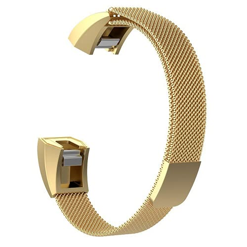 G-RF Bandas De Reloj para Fitbit Alta/Alta HR/Ace Acero Inoxidable Milán Magnético Correa (S,Oro)