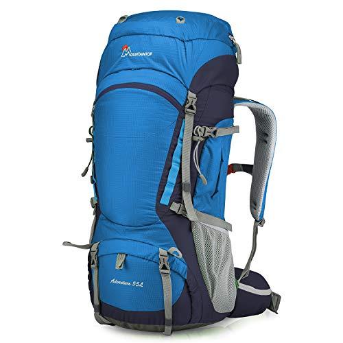 MOUNTAINTOP Sac à Dos Randonnée Sac de Trekking 55 litres 80 litres à l'air Libre Camping Sport Bivouac Voyage