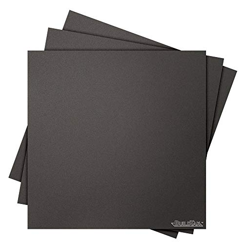 BuildTak 3D Printing Build Surface, 12' x 12' Square, Black (Pack of 3)