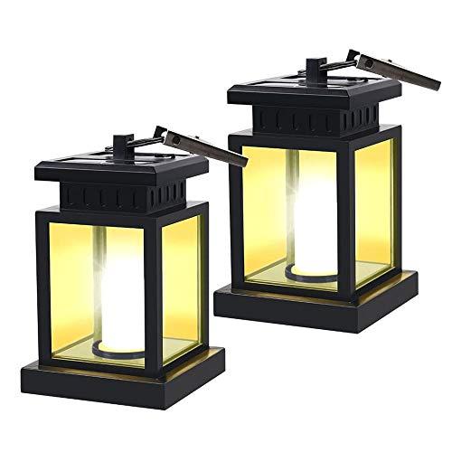Gn shop 2ST LED Solar Mission Laterne, solarbetriebene Wasserdicht hängend Regenschirm Laterne Kerzenlicht, mit Klemme, for Strandschirm Baum Pavillon Garten-Yard-Rasen Etc Beleuchtung und Dekoration