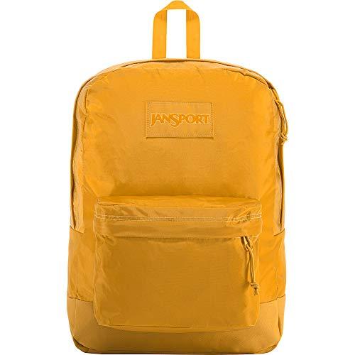 JanSport Mono Superbreak Backpack - Lightweight School Pack, English Mustard